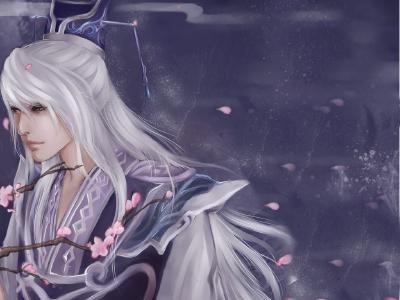 冷艳古典妖女手绘图片
